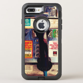 Make Your iPhone Look Like An Old Pay Phone Funny OtterBox Defender iPhone 7 Plus Case