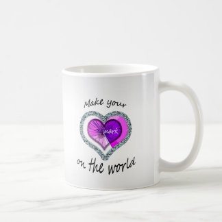 Make Your Mark on the World Heart Coffee Mug