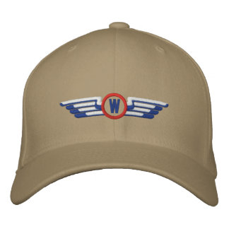 Make Your Monogram Aviation Laurels Pilot Wings Embroidered Baseball Hat
