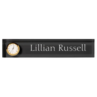 Make Your Name Known Desk Clock Nameplate by Janz
