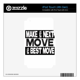 make your next move iPod touch 4G decals