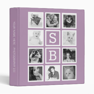 Make Your Own 10 Instagram Photos with Initials 3 Ring Binder
