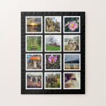 """Make Your Own 12 Instagram Photo Collage Jigsaw Puzzle<br><div class=""""desc"""">Create your very own, unique and one of a kind large sized puzzle using your own photos or artwork! Designed especially for a dozen of your fave instagram photos, but any image will be automatically fitted inside the simple white frames and arranged in a grid pattern. Looks great with twelve...</div>"""