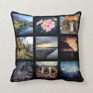 Make Your Own 18 Instagram Photo Collage Throw Pillow at Zazzle