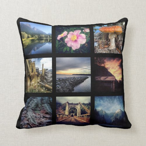 Make Your Own 18 Instagram Photo Collage Throw Pillow