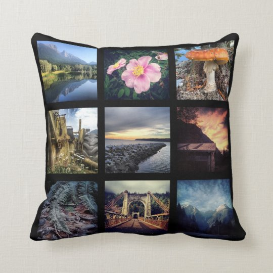 Throw Pillows Make Your Own : Make Your Own 18 Instagram Photo Collage Throw Pillow Zazzle.com