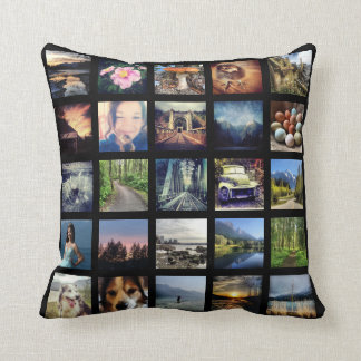 Make Your Own 25 Instagram Photo Collage Throw Pillow