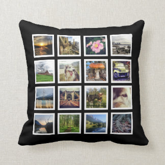 Make Your Own 32 Instagram Photos Custom Pictures Throw Pillow