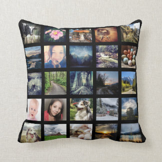 Make Your Own 50 Instagram Photo Collage Throw Pillow