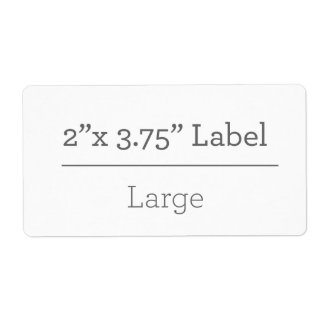 Make Your Own 8.5 X 11 Label