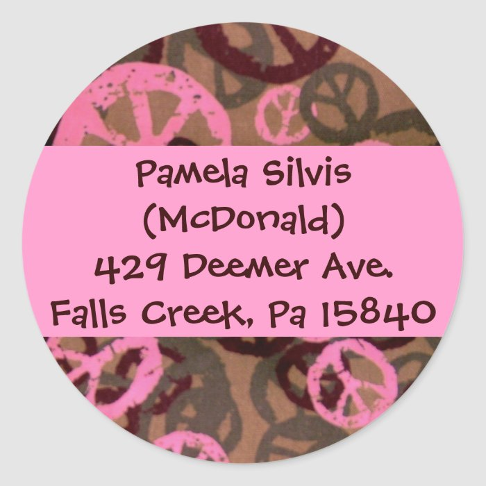 Make Your Own Address Labels Classic Round Sticker Zazzle
