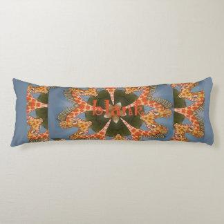 Make your own Africa Giraffe Animal pattern design Body Pillow