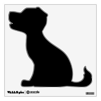 Make Your Own Animal Sitting Puppy Wall Decal