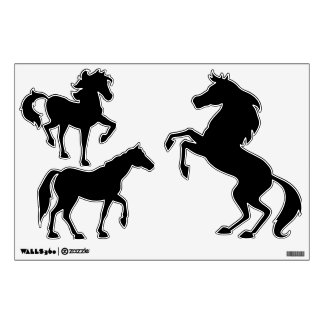 Make Your Own Animals Three Horses Wall Decals