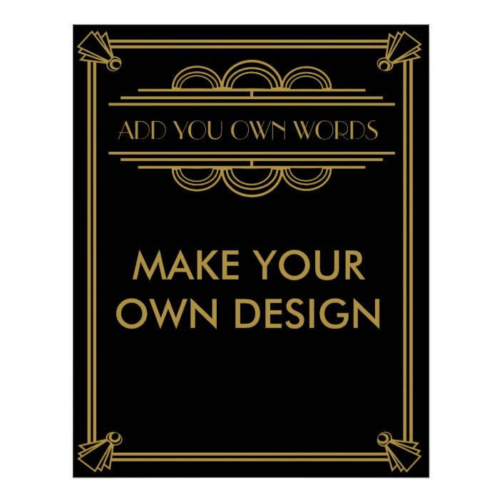 Make Your Own Art Deco Gatsby Poster