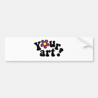 Make Your Own Artistic Display Car Bumper Sticker