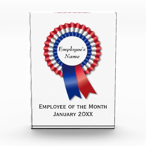 Make Your Own Award Employee Of The Month Rosette Zazzle