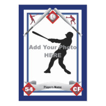 Make Your Own Baseball Card Business Card Templates