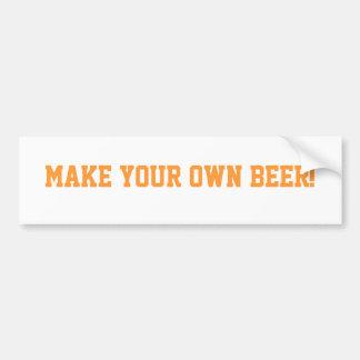 Make Your Own Beer Bumber Sticker Car Bumper Sticker