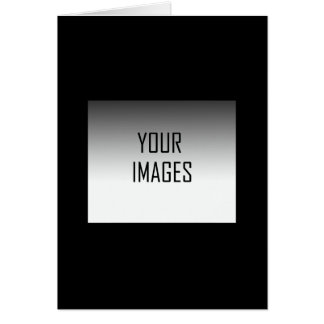MAKE YOUR OWN BLACK GREETING CARD