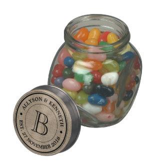 Make Your Own Burlap Retro Logo Monogram Glass Jars