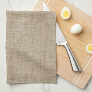 Make Your Own Burlap Retro Logo Monogram Hand Towels