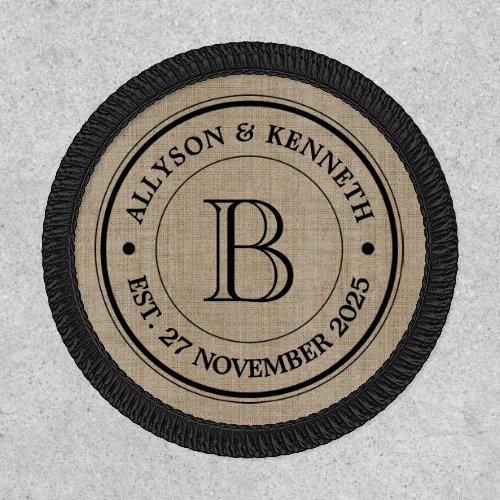Make Your Own Burlap Retro Logo Monogram Patch