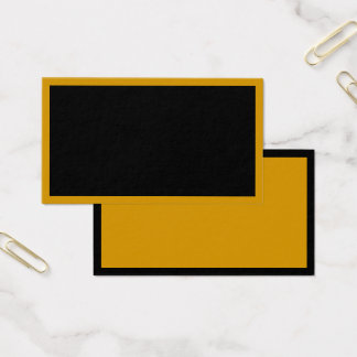 MAKE YOUR OWN BUSINESS CARDS Black Gold Reversible