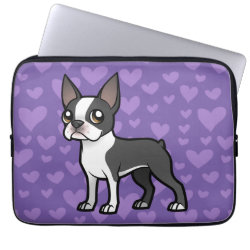 Neoprene Laptop Sleeve 13 inch with Boston Terrier Phone Cases design