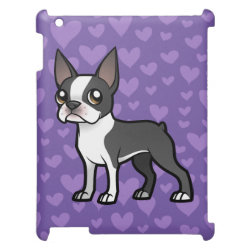 Case Savvy Glossy Finish iPad Case with Boston Terrier Phone Cases design