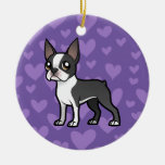 Make Your Own Cartoon Pet Double-Sided Ceramic Round Christmas Ornament