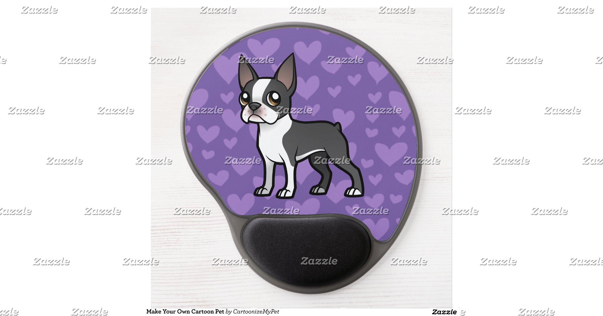 make your own cartoon pet gel mouse pad. Black Bedroom Furniture Sets. Home Design Ideas