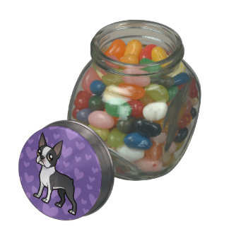 Make Your Own Cartoon Pet Glass Candy Jars