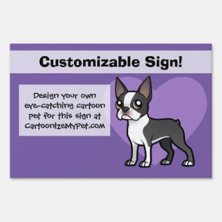Make Your Own Cartoon Pet Lawn Sign