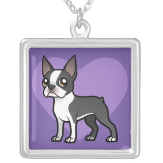 Make Your Own Cartoon Pet Square Pendant Necklace