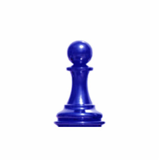Make your own chess set Blue Pawn Standing Photo Sculpture