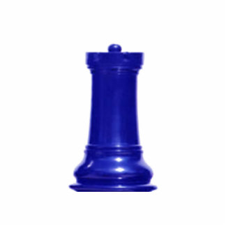 Make your own chess set Blue Rook Standing Photo Sculpture