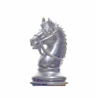 Make your own chess set Silver Knight Standing Photo Sculpture