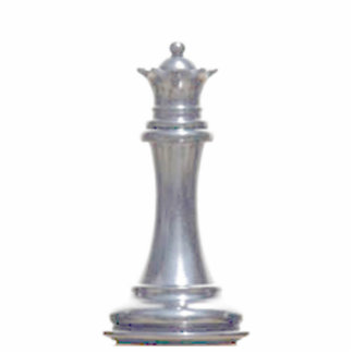 Make your own chess set Silver Queen Standing Photo Sculpture