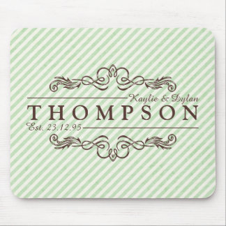 Make Your Own Chocolate Mint Anniversary Monogram Mouse Pad