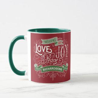 Make Your Own Christmas Typography Custom Banner Mug