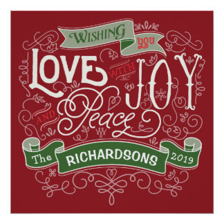 Make Your Own Christmas Typography Custom Banner Poster