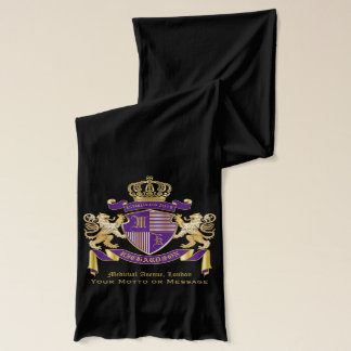Make Your Own Coat of Arms Monogram Crown Emblem Scarf