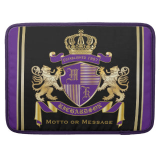 Make Your Own Coat of Arms Monogram Crown Emblem Sleeve For MacBook Pro