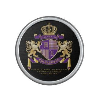 Make Your Own Coat of Arms Monogram Crown Emblem Speaker
