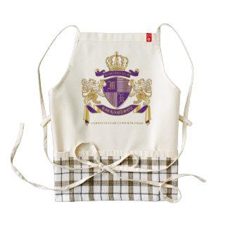 Make Your Own Coat of Arms Monogram Crown Emblem Zazzle HEART Apron