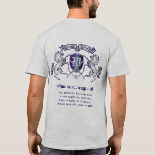 Make Your Own Coat of Arms Silver Horse Shield T_Shirt