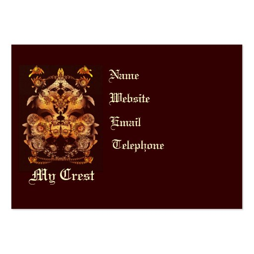 Make your own crest business card templates zazzle for Make your own business cards template