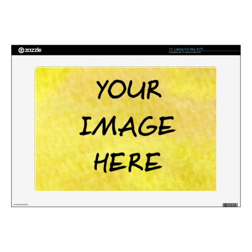 "Make Your Own Custom 15"" Laptop (Mac or PC) Skin Skin For Laptop"