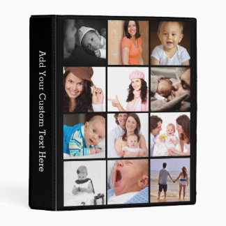 Make Your Own Custom 24 Photo Collage Mini Binder